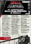 63°ANNIVERSARIO DELLA STRAGE MINERARIA DI RIBOLLA